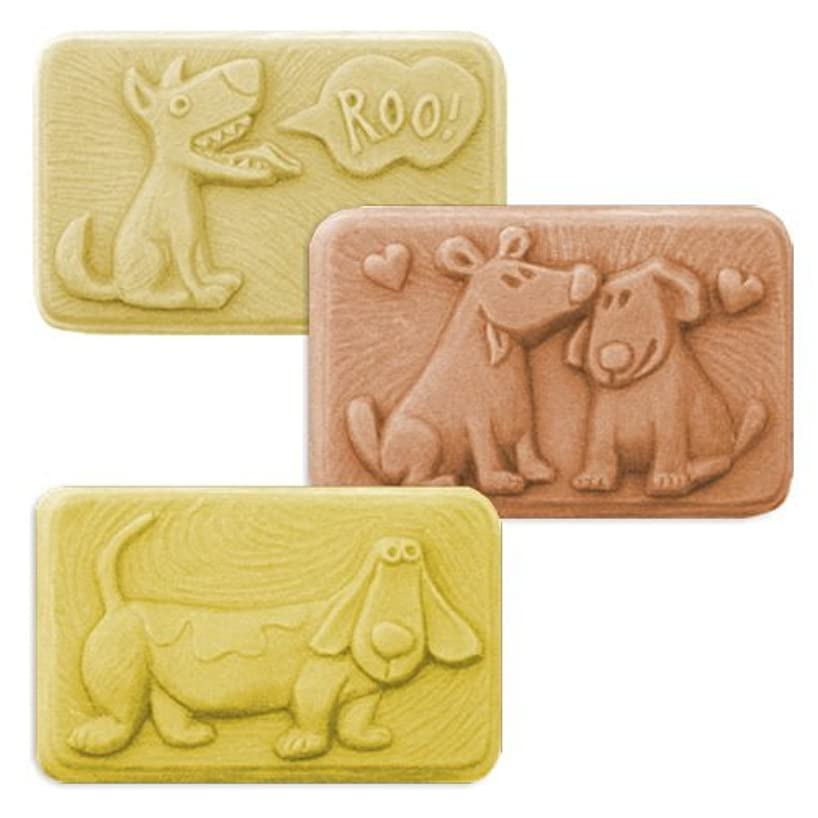 Milky Way Good Dog 2 Soap Mold Tray - Melt and Pour - Cold Process - Clear PVC - Not Silicone - MW 171