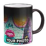 Tazza Termica Personalizzata con Foto & Testo, la Tua Foto su Tutta la Superficie Tazza Personalizzata Ceramica Tazza Magica Magic Cup Black [117]