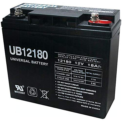 Universal Power Group UB12180 12V 18AH SLA Internal Thread Battery Replacement for FM12180