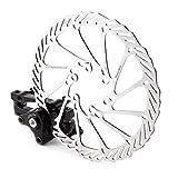 Freno de disco mecánico para bicicleta de montaña, mordaza delantera y trasera, rotores de 160 mm, tamaño delanteros