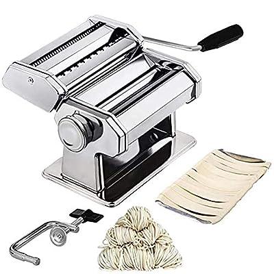 LTLCLZ Homemade Pasta Maker All in One 9 Thickness Settings for Fresh Fettuccine Spaghetti Lasagne Dough Roller Press Cutter Noodle Making Machine Sturdy