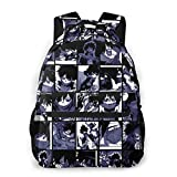 Anime My Hero Academia Collage - Dabi Canvas Laptops Backpack College School for Women & Men