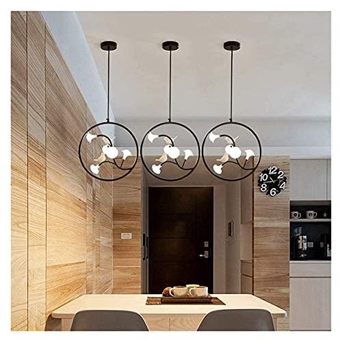Palm kloset Lámpara de Techo LED de Cristal Rosa con luz cálida, lámpara de Techo Negra, decoración Creativa para el hogar, Sala de Estar, Dormitorio, Hotel 40cm