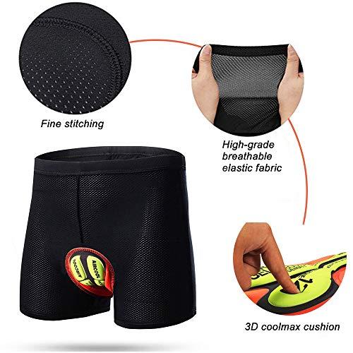 Herren Radunterhose Radsportshorts Fahrradhosen mit elastische atmungsaktive 4D Gel Sitzpolster mit Einer hoher Dichte - 3