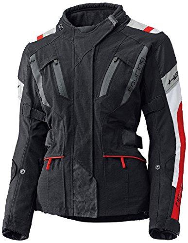 Held 4-Touring Damen Motorrad Textiljacke, Farbe schwarz-rot, Größe DS