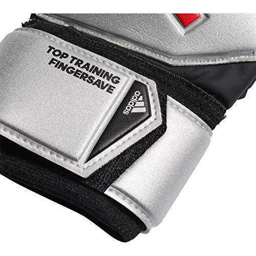 adidas Herren Predator Top Training Fingersave Torwarthandschuhe, Silver met./Black, 9