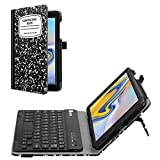 Fintie Folio Keyboard Case for Samsung Galaxy Tab A 8.0 2018 Model SM-T387 Verizon/Sprint/T-Mobile/AT&T, Premium PU Leather Stand Cover with Removable Wireless Bluetooth Keyboard, Composition Book