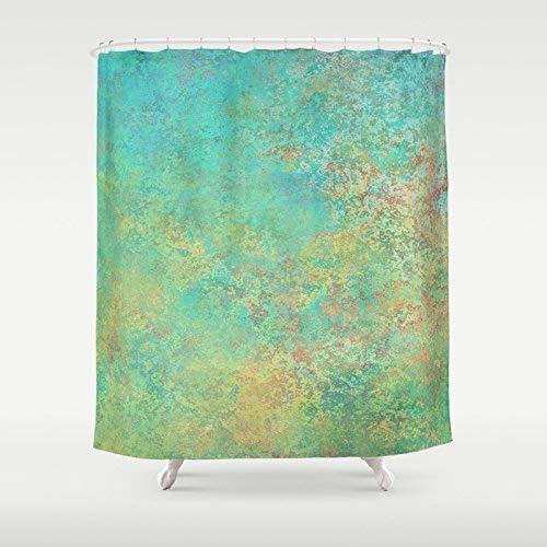 Photo Art Shower Curtain | Green Abstract Custom Shower Curtain | Modern Bath Decor | New Home Gift | Shower Curtain & Bath Mat Set