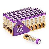 Batterie AA - Set da 40 | GP Extra | Pile Stilo AA Alcaline da 1,5V / LR06 - Lunga Durata