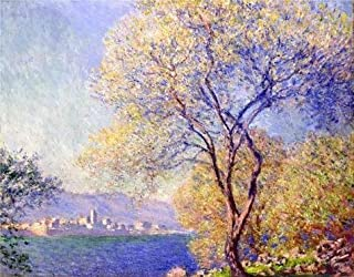 Perfect Effect Canvas ,the High Definition Art Decorative Prints On Canvas Of Oil Painting 'Antibes Seen From The Salis Garden,1888 By Claude Monet', 20x26 Inch / 51x65 Cm Is Best For Gift For Relatives And Home Artwork And Gifts