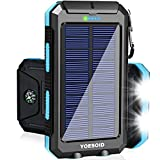 Solar Charger 20000mAh YOESOID Portable Outdoor Waterproof Solar Power Bank Camping External Battery...
