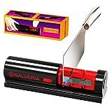 Afilador de cuchillos profesional con 2 uds piedra afilar incluidas afilador cuchillos valido para...