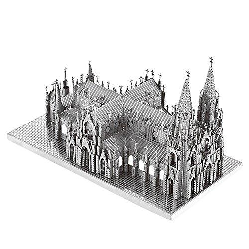 St. Patrick's Cathedral Maqueta de Metal Kits DIY 3D metal puzzle laser cut models, Rompecabezas de metal B32201