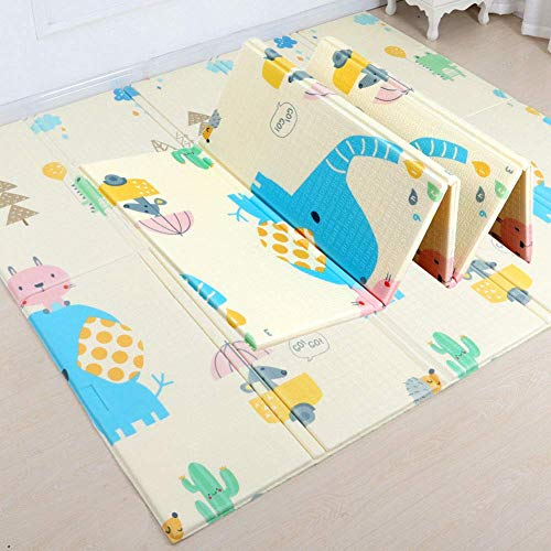 Foing Crawling Mat, Baby Play Mat, Double-Sided Waterproof XEP Floor Mat for Toddler Kids,200 x 180 x 1cm,B180*200 * 1cm Peng (Color : A180*200 * 1cm)