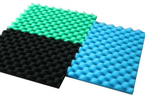 LTWHOME Fish Pong Foam Filter Sponge Set 17' X 11' Media (Pack of 1 Set)