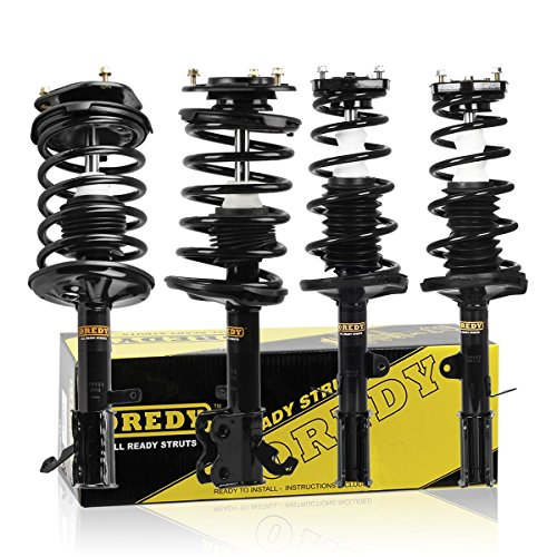 OREDY Shocks and Struts Set of 4PCS Front and Rear Complete Shocks Assembly Coil Springs Shock Struts 11151 11152 15052 15051 Compatible with Corolla 93-02 Struts Assembly