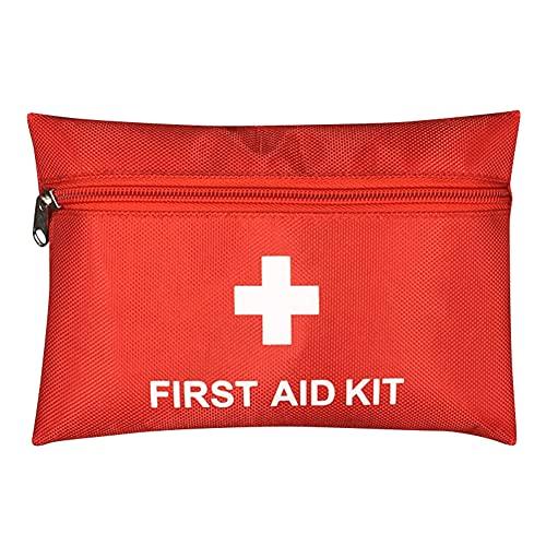 Botiquín de Primeros Auxilios de artículos, Survival Tools Mini Box Kit Bolsa Médica para Emergencias para el Coche, Hogar, Camping, Caza, Viajes, Aire Libre o Deportes