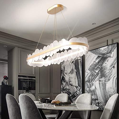 RongDuosi LED plafondlamp rechthoekig goud moderne LED acryl metaal woonkamer slaapkamer restaurant bar hotel eettafel plafondlamp 100 x 30 x 23 cm