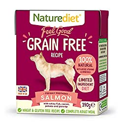 NUTRITIONALLY BALANCED - This complete and nutritionally balanced grain free natural dog food contains all the essential nutrients your dog needs for a healthy diet. Made with freshly prepared Salmon, White Fish and root vegetables. 100% NATURAL INGR...