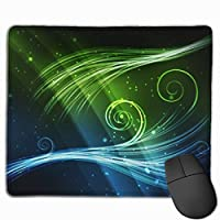 """Abstract Blue Green Shiny Mouse Pad Non-Slip Rubber Gaming Mouse Pad Rectangle Mouse Pads for Computers Desktops Laptop 9.8"""" x 11.8"""""""