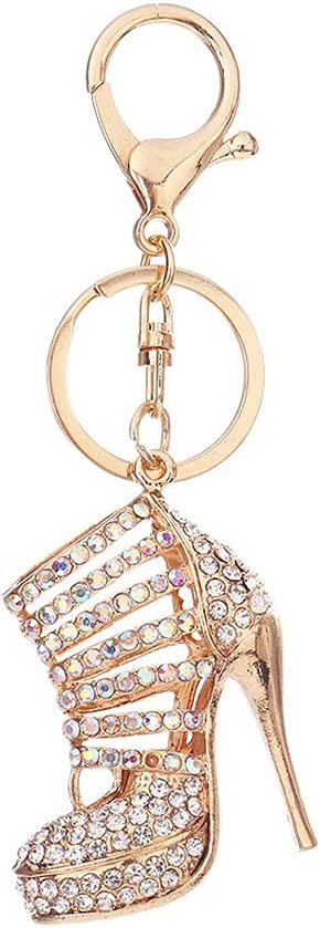 SSMDYLYM High Heel Shoe National products Keychain Crystal Ke Rhinestone Purse Car Cheap mail order specialty store