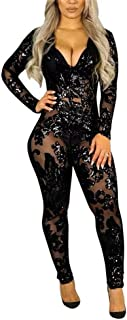 Best sequin see through jumpsuit Reviews