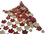 versandhop Konfetti-Blätter Herbst Erntedank Halloween Braun Tisch-Dekorieren Party Streudeko tischdeko 15g
