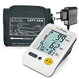 Lotfancy Tensiomètre Électronique Bras Professionnel avec Grand Écran LCD et l'Indication Anglais Vocal, Mémoire de 120 pour 4 Utilisateurs