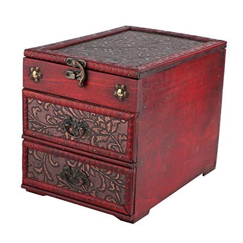Caja de almacenamiento Joyero multifuncional para el día de San Valentín para el día de la madre para hombres y mujeres por igual(8023b-grass flower, blue)