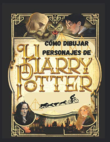 Cómo Dibujar Personajes de Harry Potter: harry potter,Cómo Dibujar Harry Potter,libro de dibujo de harry potter,libro de colorear de harry potter para adultos y niños