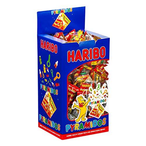 HARIBO Fruchtgummi PYRAMIDOS, 75 Mini-Beutel in Box VE = 1