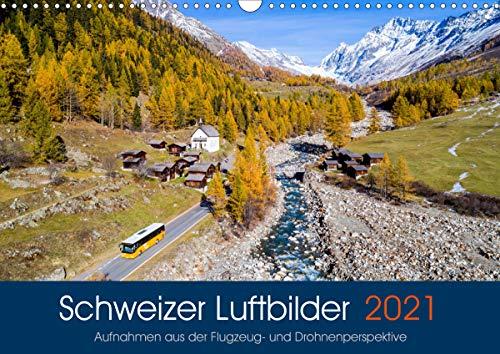 Schweizer Luftbilder (Wandkalender 2021 DIN A3 quer)