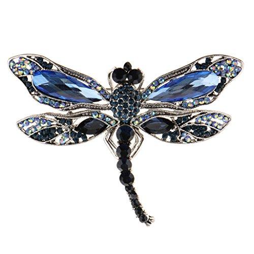 SDENSHI Cristal Insecto Broche Pin Declaración Broche de Joyería - # 3, Individual