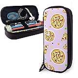 Bolsa de lápiz de cuero de la PU, estuche de marcador de almacenamiento de alimentos para pizza, soporte para lápiz, bolsa de lápiz organizador de papelería
