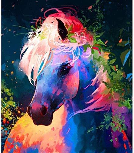 Animal colorido caballo rompecabezas para adultos 1000 piezas arte intelectual regalo educativo hogar interesante descompresión cerebro desafío rompecabezas