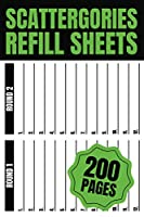 Scattergories Refill Sheets 200 Pages: Scattergories Score Sheets for Playing Scattergories (Board Game)