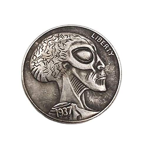 1937 Alien Head Hobo Coin Morgan Wanderer Commemorative Coin Collection Souvenirs Home Decoration Crafts Ornaments Gift