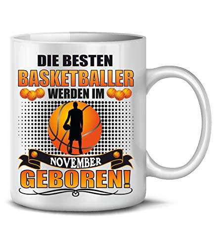 Golebros Basketballer November Fan Sport Tasse Becher Kaffee Artikel Männer Geburtags Geschenk Verein Korb Netz Outdoor Outfit Ball pumpe Mug Pott
