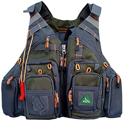 Outdoor zichtbaarheid reflecterend vest Vest Reflecterende Veiligheid Men Blue Tool Vest Vissen Life Vest zwemmen reddingsvest Safety Vest Survival Utility Vest Veilig en ademend verkeer