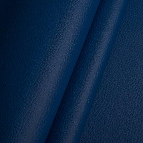 EDGE Kunstleder Meterware 1lfm 1,4m breit Polsterstoff Bezugsstoff Lederoptik Blau