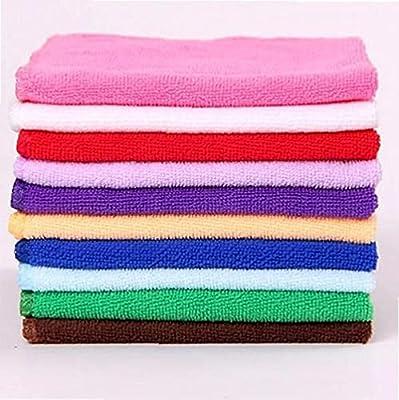 TOSSPER 5pcs House Cleaning Washing Cloths Microfiber Dishcloths Rags Towel Bamboo Fiber Cloths Cleaner