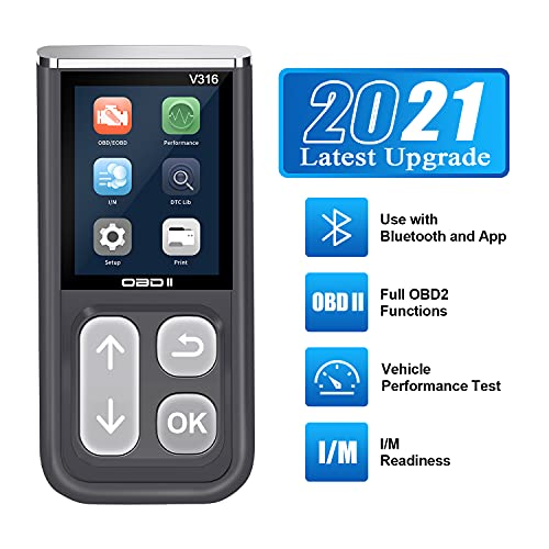 OBD2 Scanner AMTIFO Car Code Reader with Bluetooth, Engine Fault Code Reader, Read Codes Clear Codes, View Freeze Frame Data, I/M Readiness Check CAN Diagnostic Scan Tool,Test Engine Performance