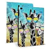 Étui fin et léger avec support pour iPad mini4/5 7,9' Motif girafe à trois lunettes