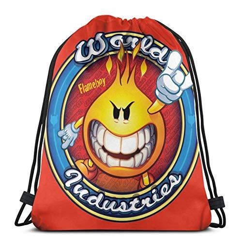 ANGSHI6 Drawstring Bags Elmer Bud Drawstring bag unisex classic sports backpack storage bag travel bag