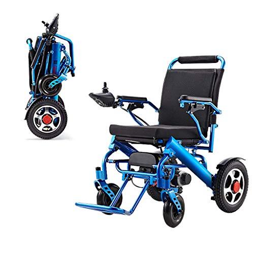 Y&QD Leichte Rollstühle für Erwachsene, elektrische Klapptrage Power Stuhl Silla de Ruedas Electrica para, sicherer & stabil tragbare Safe Motorized Scooter Senior, Unterstützung 200 KG,A