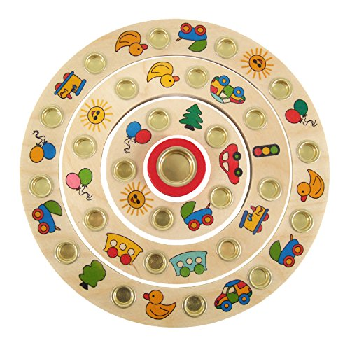 Hess Wooden Toddler Toy Plate Swing