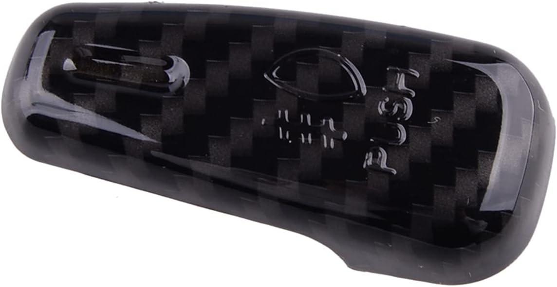 SHIHONGYAN Car Headlight Switch Control Button Cover Trim Carbon