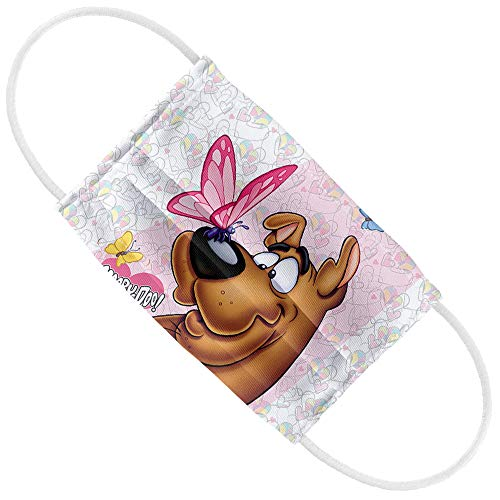 Scooby-Doo Butterfly 1-Ply Reusable Face Mask Covering, Kids