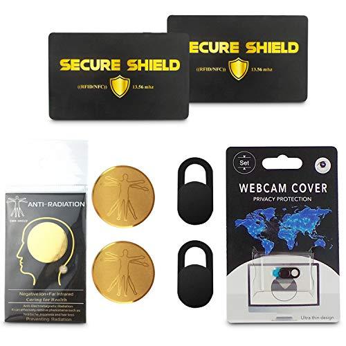 Elektronisches Gesundheits- und Sicherheits-Paket Webcam-Abdeckungen Anti-Strahlungs-Aufkleber RFID-Kreditkarten-Blocker kontaktlose Sicherheit Handy Computer Brieftasche Zuhause Router Laptop