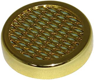 Cuban Crafters Cigar Humidifier for Humidors - Small Round Humidifiers - Gold Tone. 2.25 Diameter and 0.5 Depth.